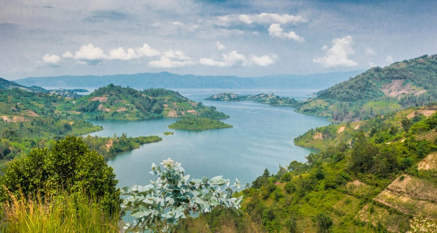 Rwanda's Lake Kivu is one of the African Great Lakes. © Shutterstock