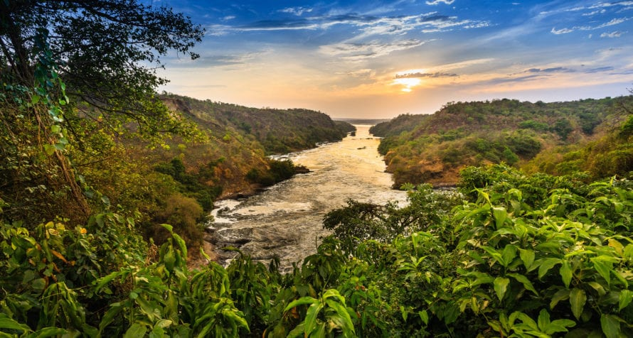 Part of the Nile River runs through Uganda. © Shutterstock