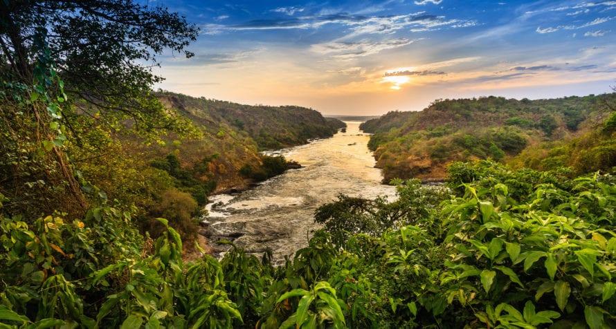 Part of the Nile River runs through Uganda. © Shutterstock