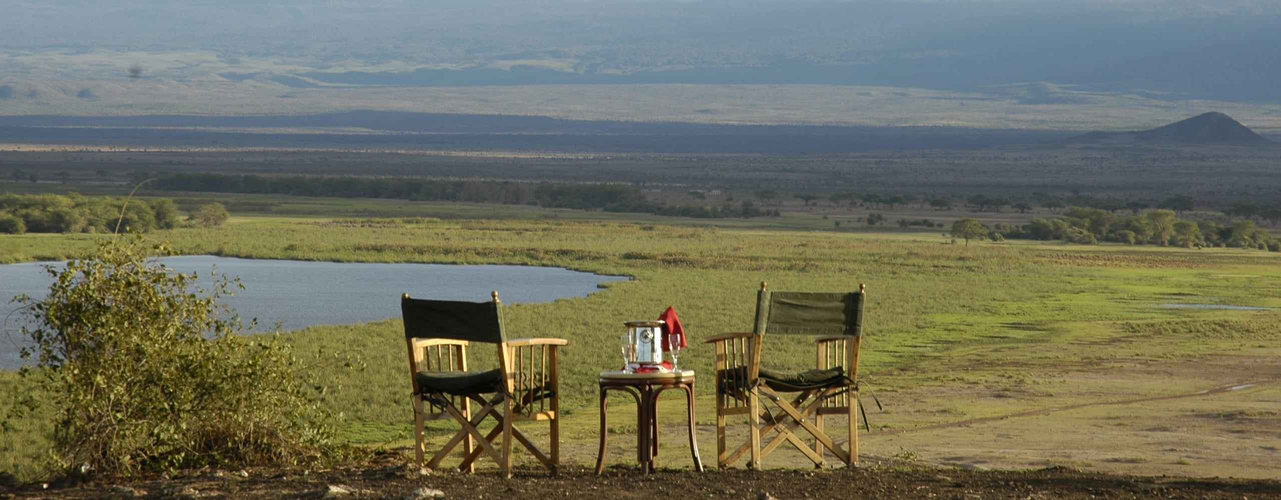 Mount Kilimanjaro, topped off with dazzling white snow, steals the show at Amboseli Serena Safari Lodge. © Serena Hotels