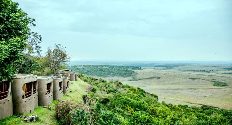 Mara Serena Safari Lodge offers sweeping views down over the plains. © Serena Hotels
