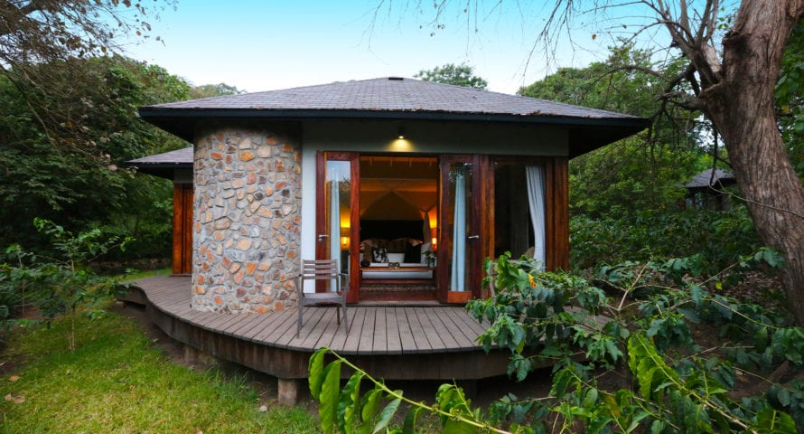Lake Duluti Lodge is set in the heart of a working coffee farm. © Lake Duluti Lodge