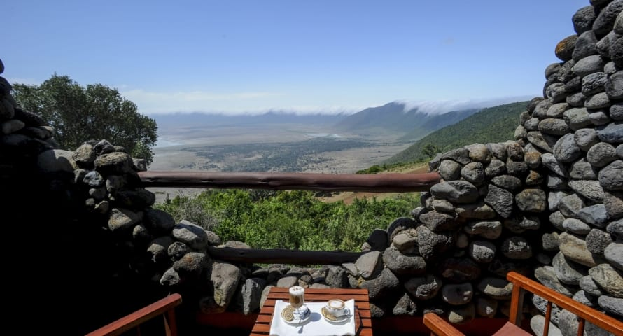 Ngorongoro Serena Lodge has glorious views over the crater. © Serena Hotels