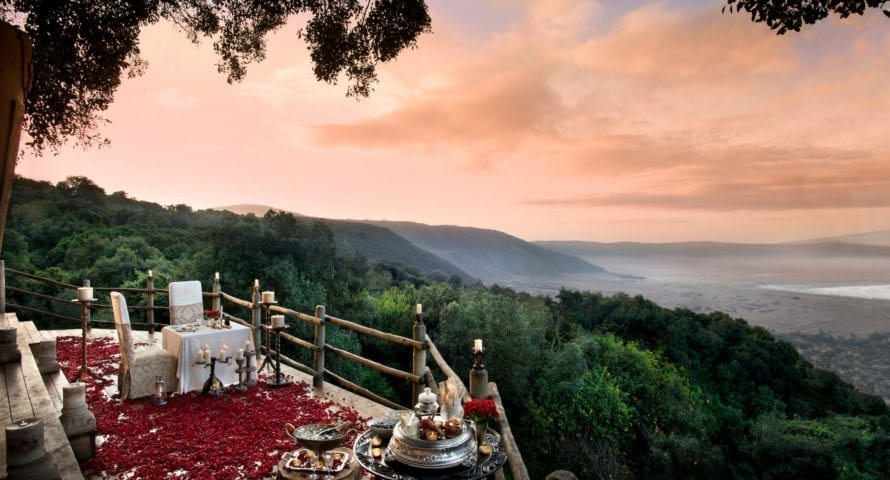 &Beyond Ngorongoro Crater Lodge is an ideal honeymoon destination. © &Beyond