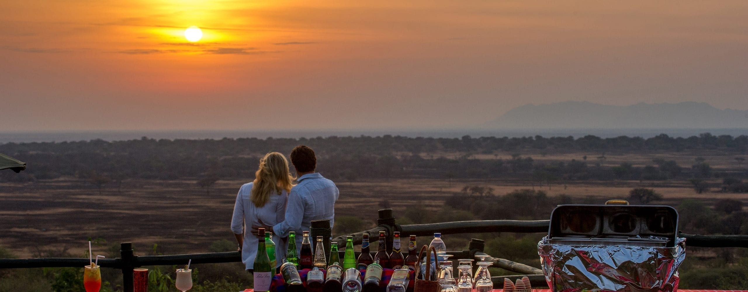 Sundowners are simply magical at Kirawira Serena Camp. © Serena Hotels