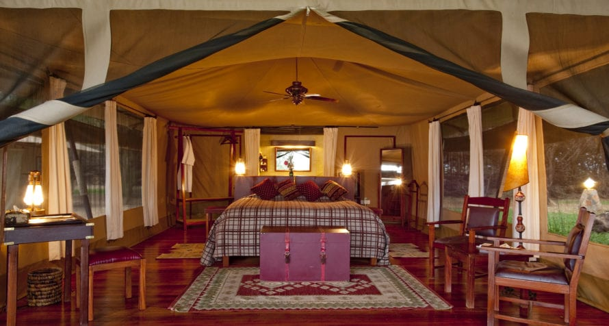 The tents at Wilderness Lodges Larsens Camp are cosy and welcoming. © Wilderness Lodges