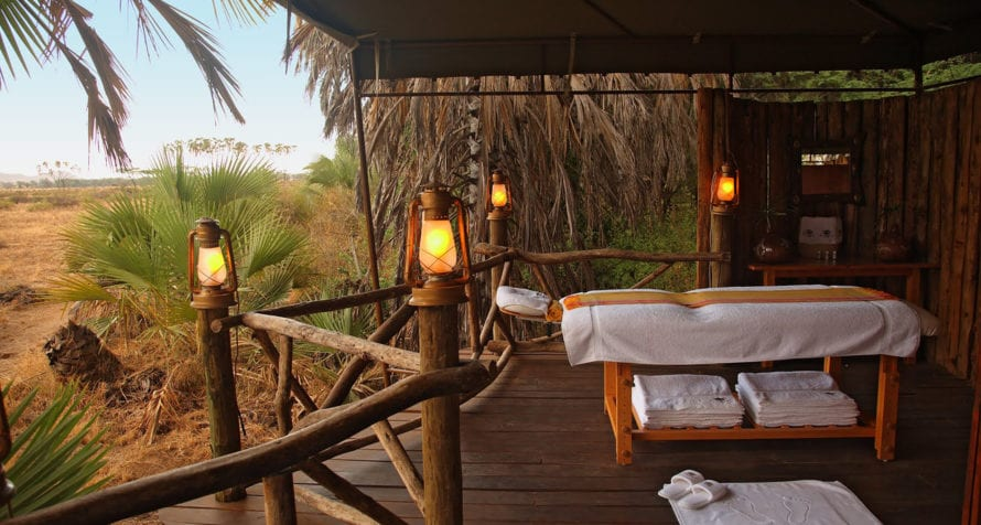 Indulge in spa treatments at Wilderness Lodges Larsens Camp. © Wilderness Lodges