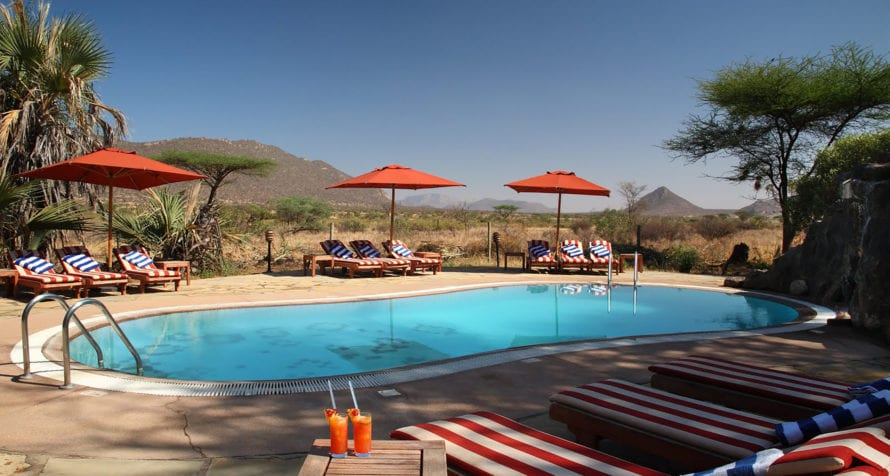 Take an afternoon dip in the pool at Wilderness Lodges Larsens Camp. © Wilderness Lodges