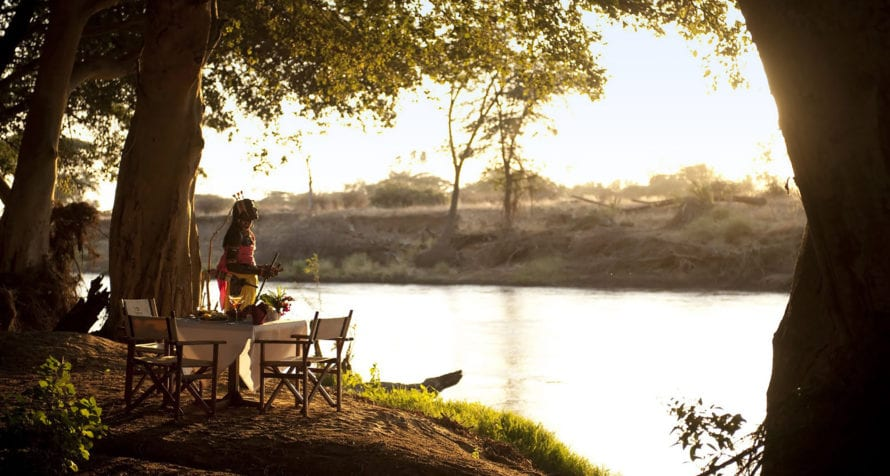 Wilderness Lodges Larsens Camp is situated on the Ngiro River. © Wilderness Lodges