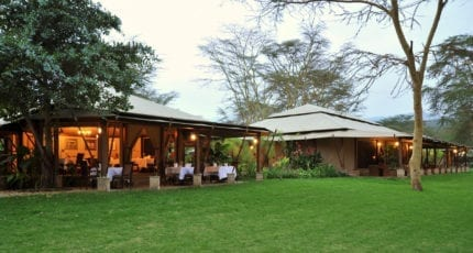 Lake Elmenteita Serena Camp is a small, exclusive camp. © Serena Hotels