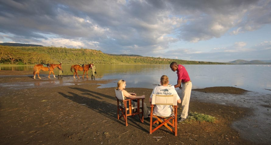 Lake Elmenteita Serena Camp is sited to make the most of the incredible lakeshore views. © Serena Hotels