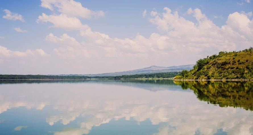 At times, Lake Elmenteita appears glass like. © Shutterstock