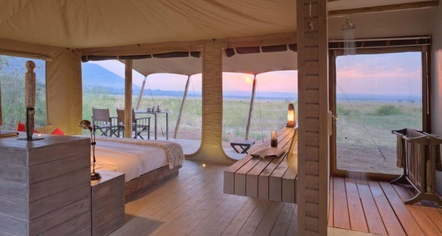 The views from the tents at &Beyond Kichwa Tembo Tented Camp are simply sublime. © &Beyond