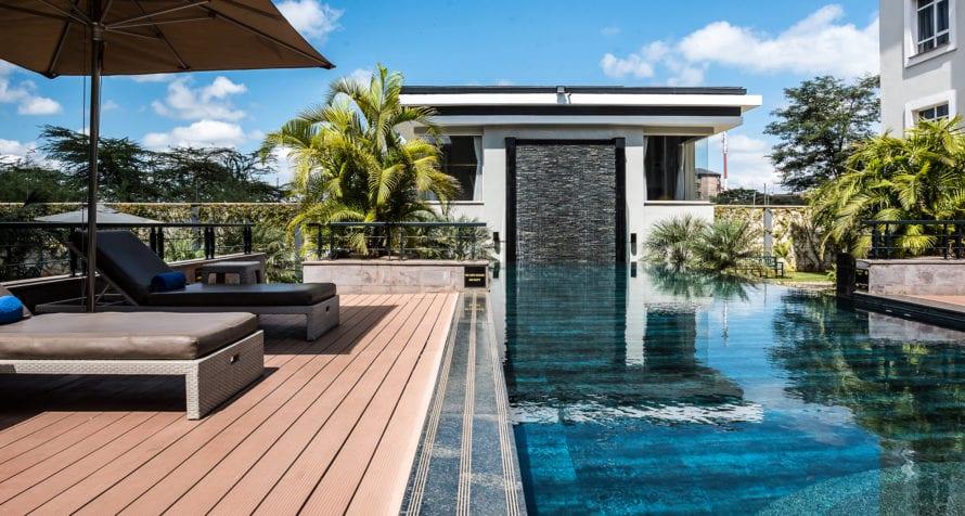 Eka Hotel Nairobi's pool area offers a quiet sanctuary after exploring the city. © Eka Hotel Nairobi