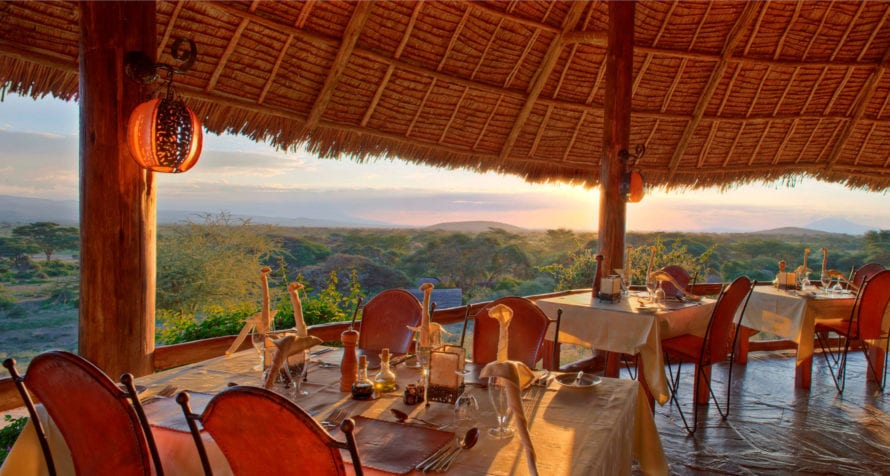 Elewana Tortilis Camp Amboseli has magnificent views over Amboseli National Park. © Elewana Collection