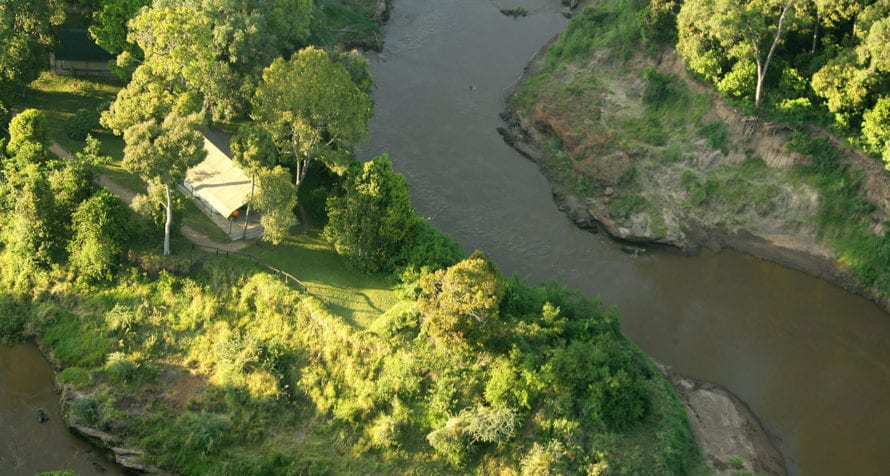 Governors' Camp's location on the Mara River places it front and centre for the annual migration. © Governors' Camp Collection