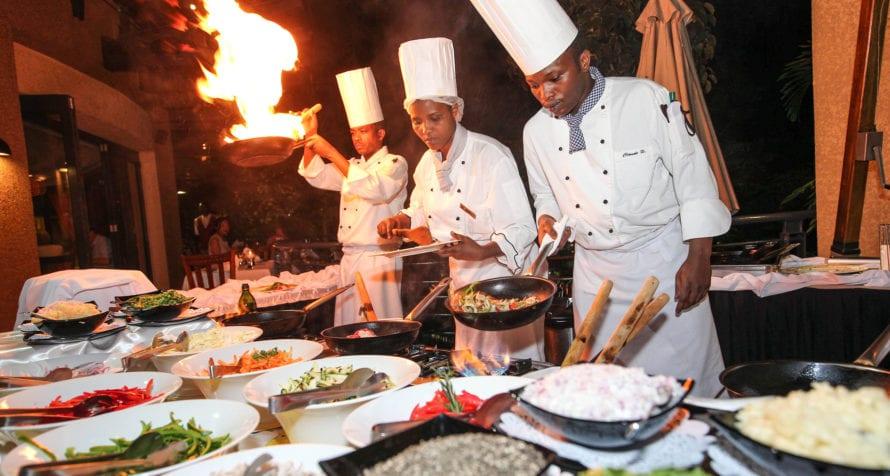 Dinner is a fun affair at Kigali Serena Hotel. © Serena Hotels