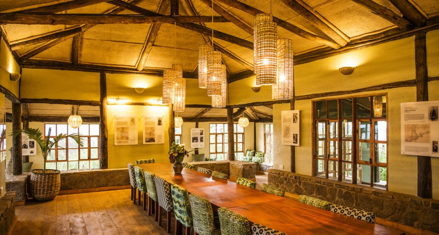Dine with other guests at Volcanoes Virunga Lodge. © Volcanoes Safaris