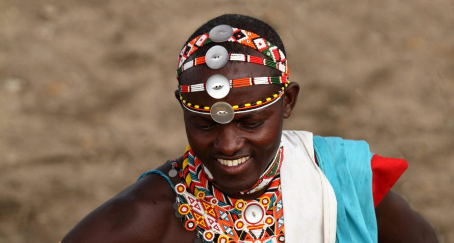 Samburu warriors wear headdresses. © Shutterstock