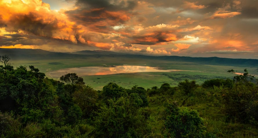 A Ngorongoro sunset is unlike any other. © Shutterstock