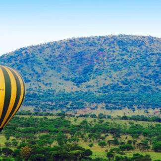 Hot-air ballooning over the Serengeti is unforgettable. © Shutterstock