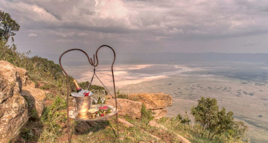 Celebrate your safari in style at &Beyond Ngorongoro Crater Lodge. © &Beyond