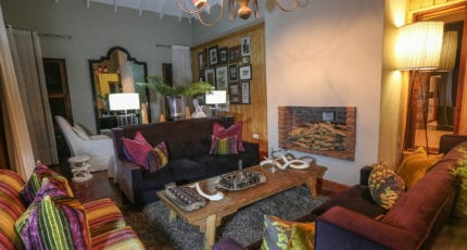 Lake Duluti Lodge creates the feeling of staying in a home, rather than a hotel. © Lake Duluti Lodge