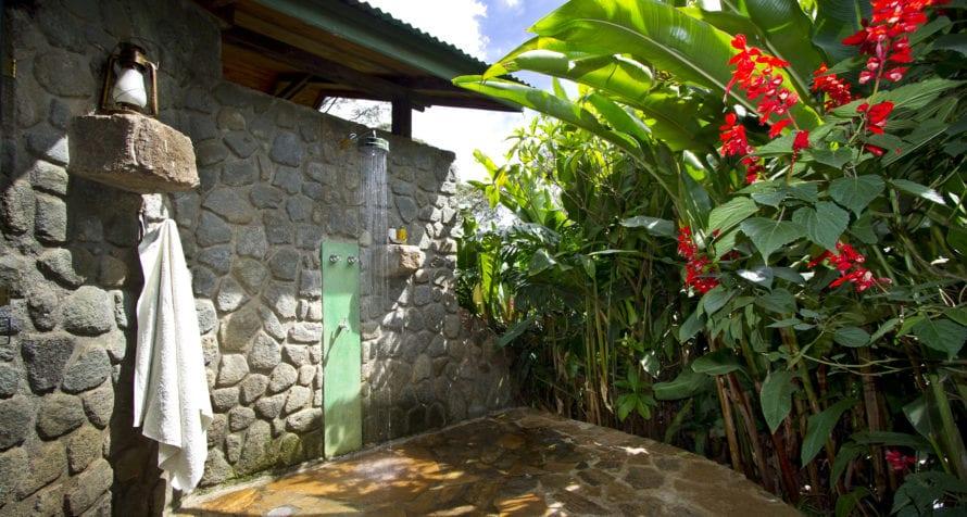 Enjoy an outdoor shower at Gibb's Farm. © Classic Portfolio