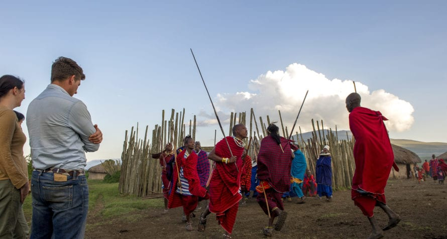 Watch Maasai dance when staying at Ngorongoro Serana Lodge. © Serena Hotels