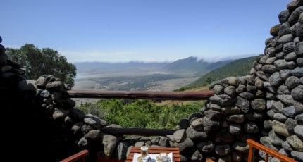 Ngorongoro Serena Lodge has glorious views over the crater. © Serena Hotels