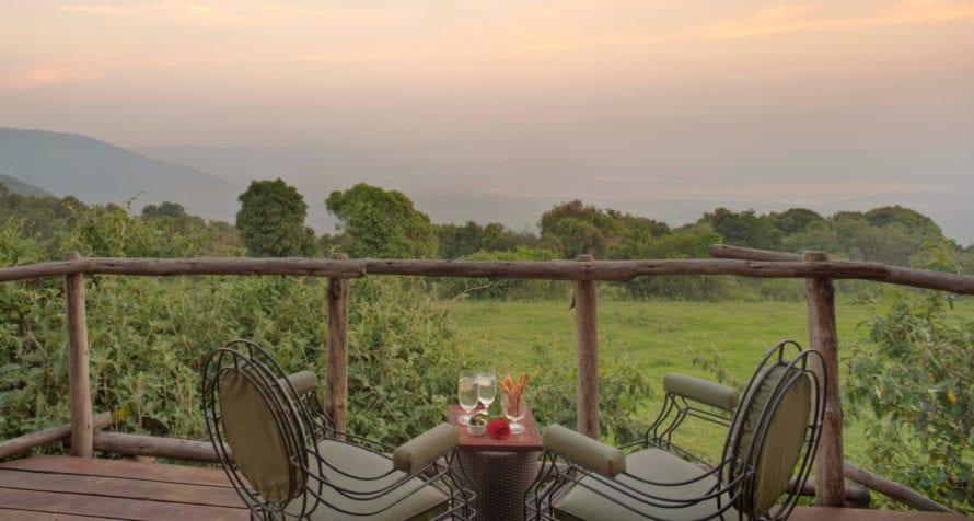 &Beyond Ngorongoro Crater Lodge has spectacular views over the caldera. © &Beyond