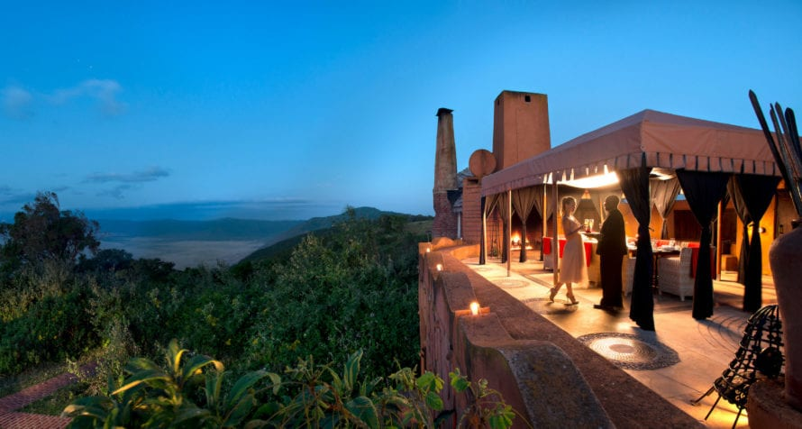 Watch from &Beyond Ngorongoro Crater Lodge as twilight creeps over the crater. © &Beyond