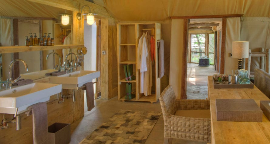 The tents at &Beyond Grumeti Serengeti Tented Camp are remarkably roomy. © &Beyond