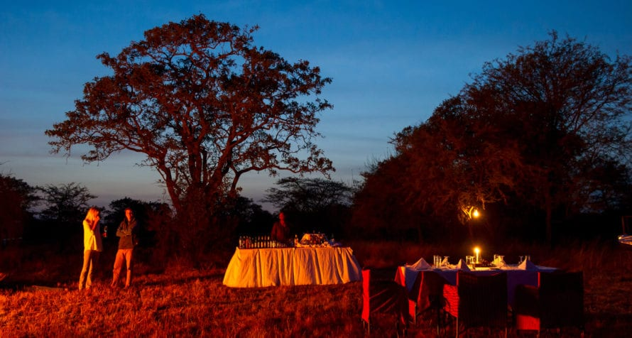 Bush dining is a must at Kirawira Serena Camp. © Serena Hotels
