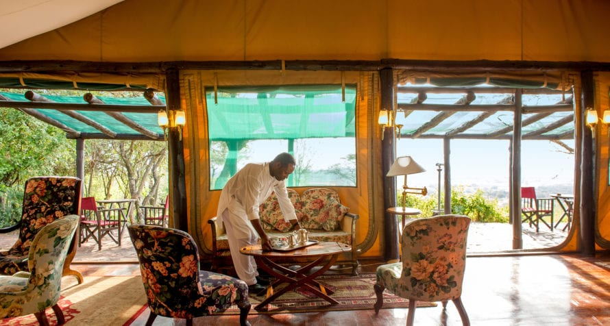 Afternoons are punctuated with tea at Kirawira Serena Camp. © Serena Hotels