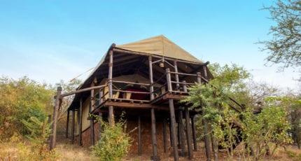 The tents have views at Kirawira Serena Camp. © Serena Hotels