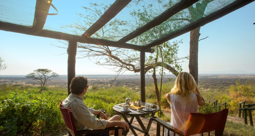 Game watch from your room at Kirawira Serena Camp. © Serena Hotels