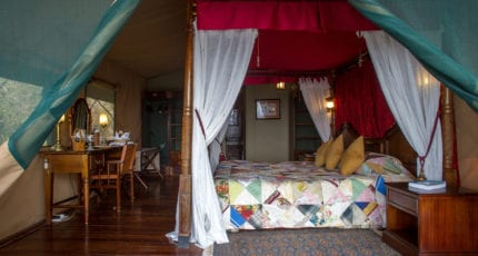 Kirawira Serena Camp offers homely tents. © Serena Hotels