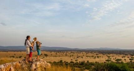 Walking safaris are available at Kirawira Serena Camp. © Serena Hotels