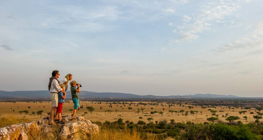 Walking safaris are available at Kirawira Serena Camp. © Serena Hotels