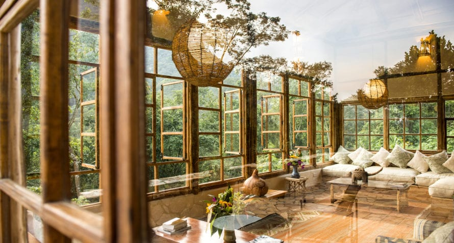 Volcanoes Bwindi Lodge merges into the forest. © Volcanoes Safaris