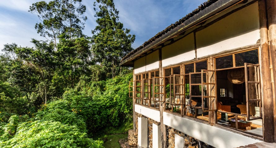 Volcanoes Bwindi Lodge overlooks the wonderfully named Bwindi Impenetrable Forest. © Volcanoes Safaris