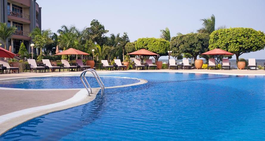Marriott Protea Hotel Entebbe has a marvellous swimming pool. © Marriott