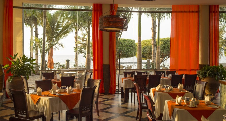 Lake Victoria provides some of the key ingredients used in Marriott Protea Hotel Entebbe's excellent restaurant. © Marriott